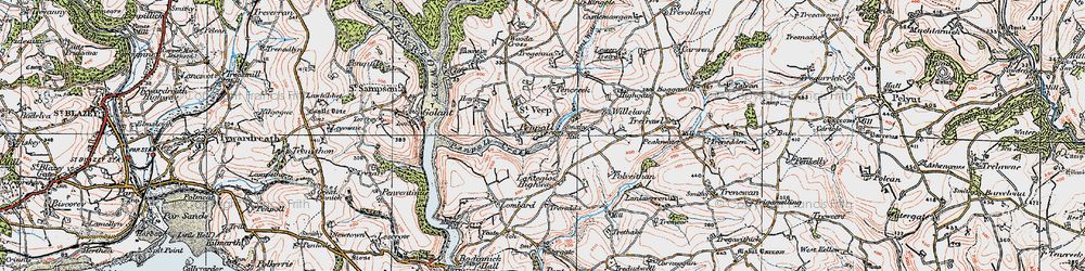 Old map of Willsland in 1919