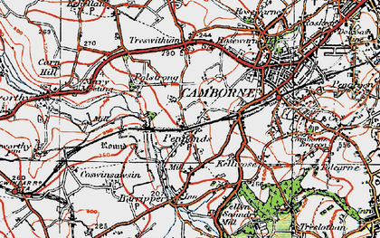 Old map of Penponds in 1919