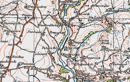 Old map of Penpont in 1919