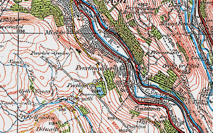 Old map of Penrhiwceiber in 1923