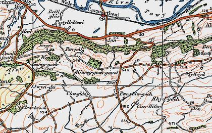 Old map of Afon Gwynon in 1923