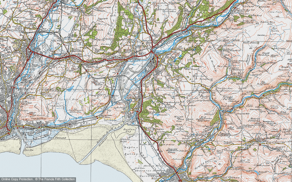 Old Map of Penrhiwtyn, 1923 in 1923