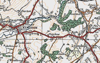 Old map of Bullocks Mill in 1920