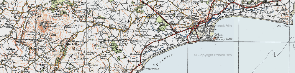 Old map of Y Gamlas in 1922