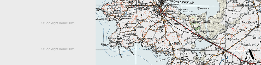 Old map of Abraham's Bosom in 1922