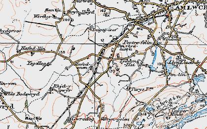Old map of Ysgellog in 1922