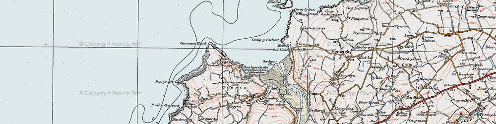 Old map of Allt-y-goed in 1923