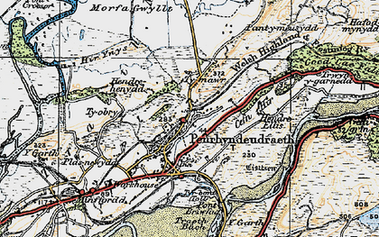 Old map of Penrhyndeudraeth in 1922