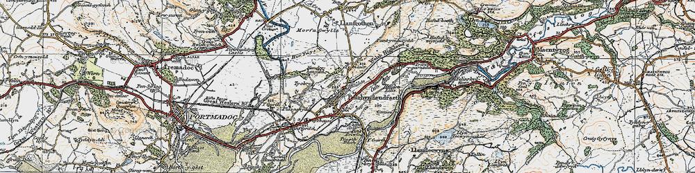 Old map of Penrhyndeudraeth in 1922