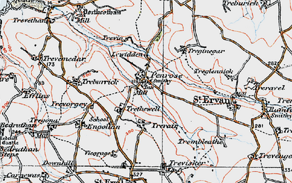 Old map of Penrose in 1919