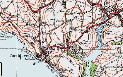 Old map of Penrose Hill in 1919
