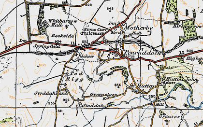 Old map of Penruddock in 1925