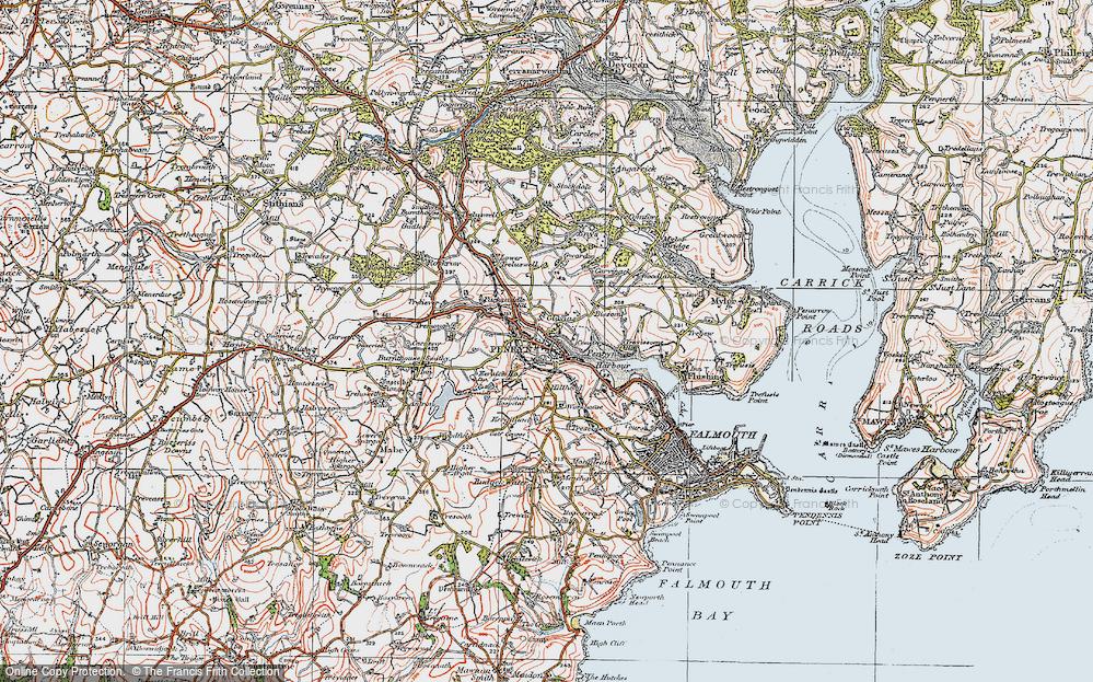 Old Map of Penryn, 1919 in 1919