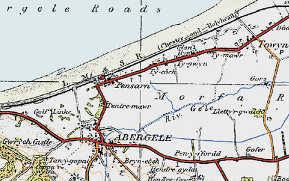 Old map of Pensarn in 1922