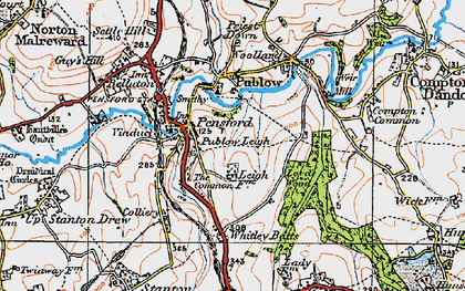 Old map of Whitley Batts in 1919