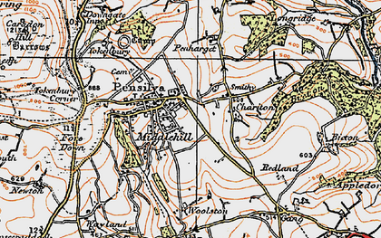 Old map of Pensilva in 1919