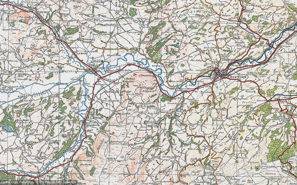 Old Map of Historic Map covering Allt y Gaer in 1921