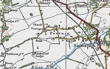 Old map of Ashwood Lodge in 1921