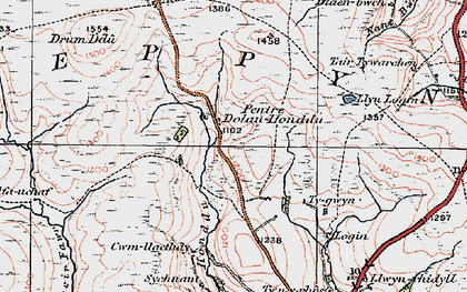 Old map of Ysgir Fawr in 1923