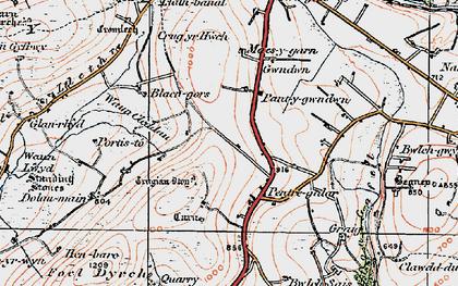 Old map of Wauncleddau in 1922