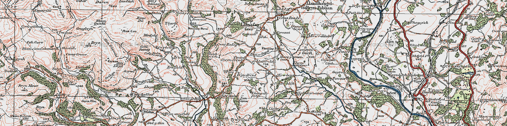 Old map of Afallenchwerw in 1923