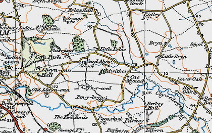Old map of Wrexham Industrial Estate in 1921