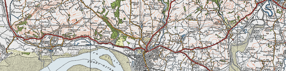 Old map of Pentre-Poeth in 1923
