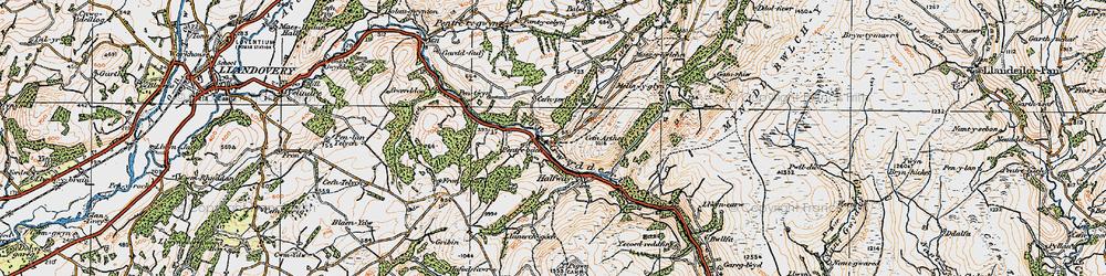 Old map of Allt y Ferdre in 1923