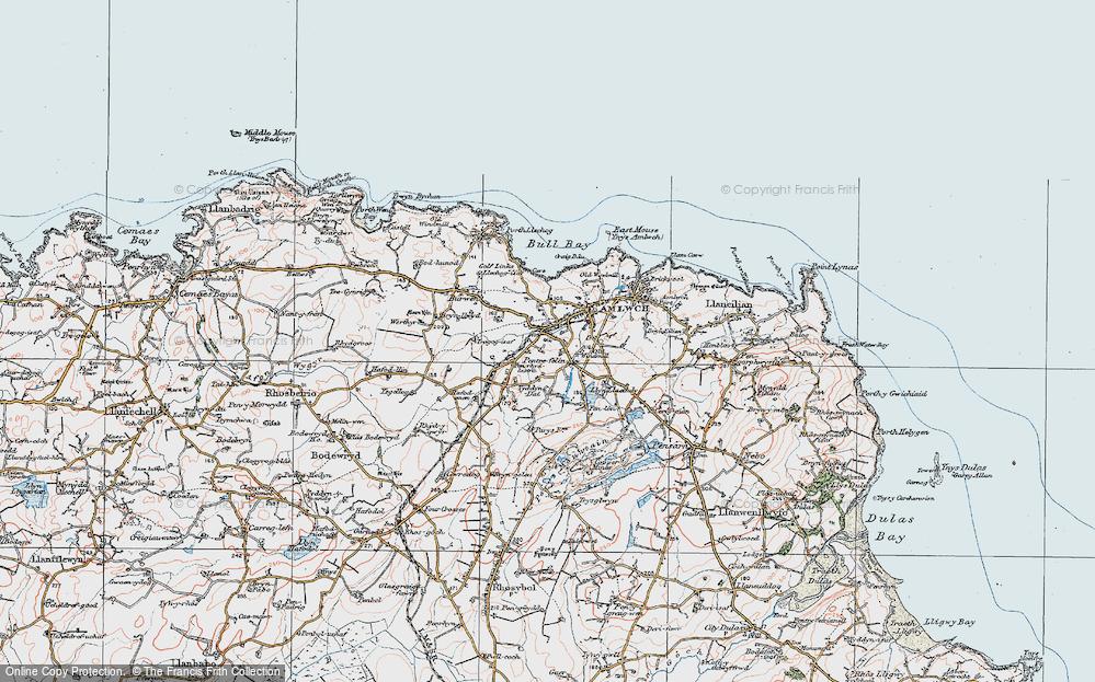 Old Map of Pentrefelin, 1922 in 1922