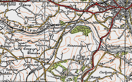 Old map of Penweathers in 1919