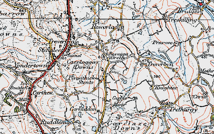 Old map of Penwithick in 1919