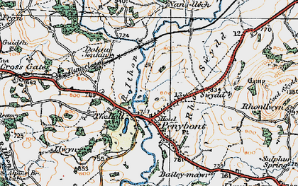 Old map of Abermithel in 1920