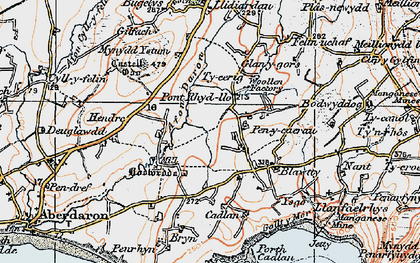 Old map of Ysgo in 1922