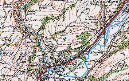 Old map of Allt-y-fanog in 1923