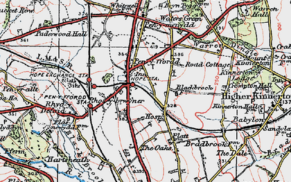 Old map of Penyffordd in 1924