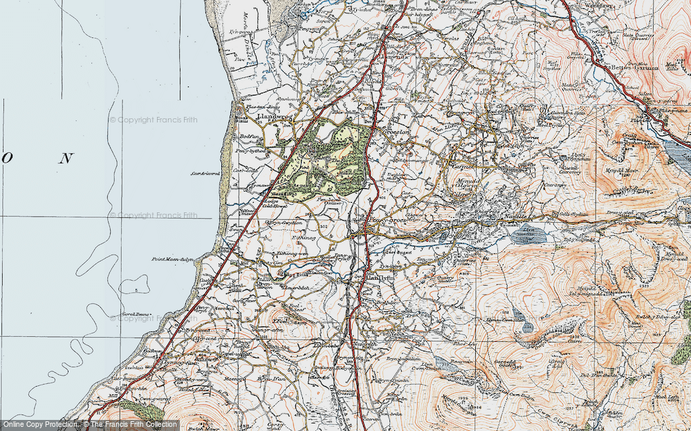 Old Map of Penygroes, 1922 in 1922