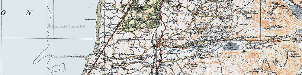 Old map of Penygroes in 1922