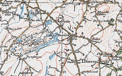 Old map of Penysarn in 1922
