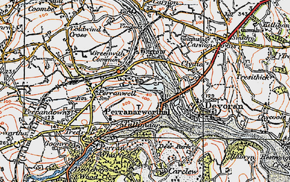 Old map of Perranwell Station in 1919