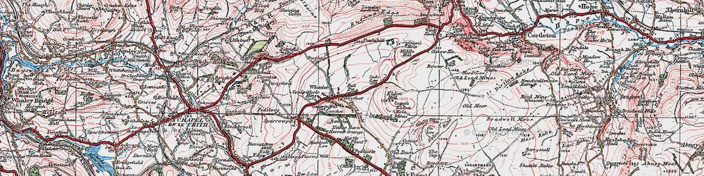 Old map of Whitelee in 1923