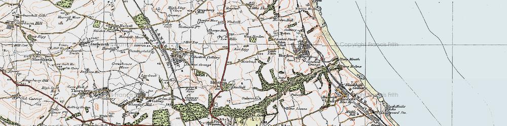 Old map of Peterlee in 1925