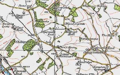 Old map of Whiteway Bottom in 1920