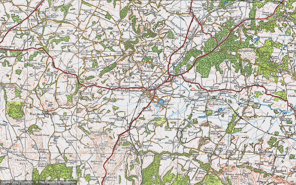 Old Map of Petersfield, 1919 in 1919