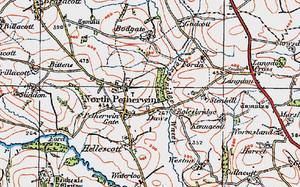 Old map of Petherwin Gate in 1919