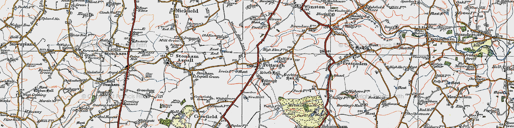 Old map of Winston Green in 1921