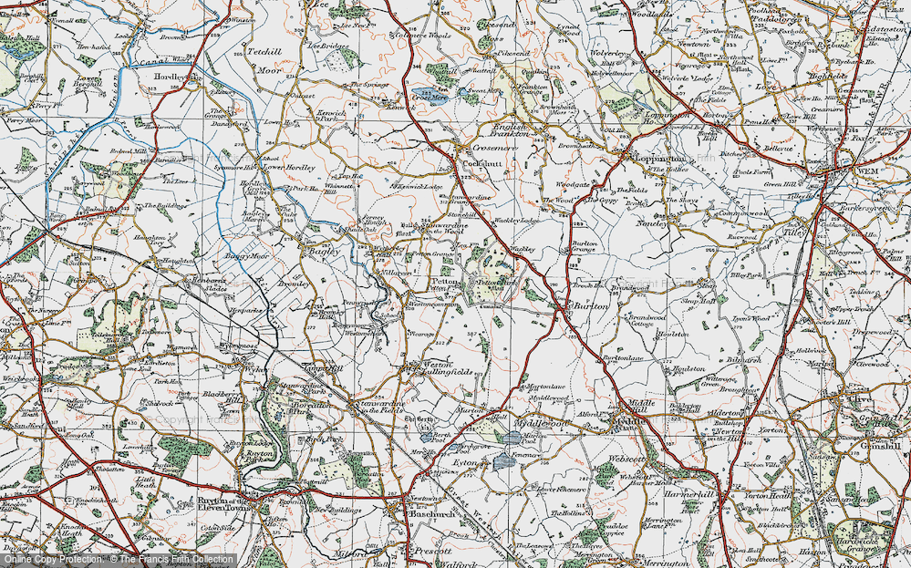 Old Maps of Petton Hall Sch - Francis Frith Sch Maps on