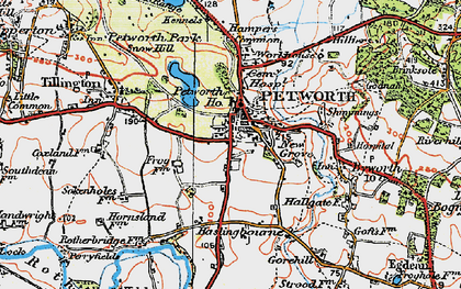 Old map of Petworth in 1920
