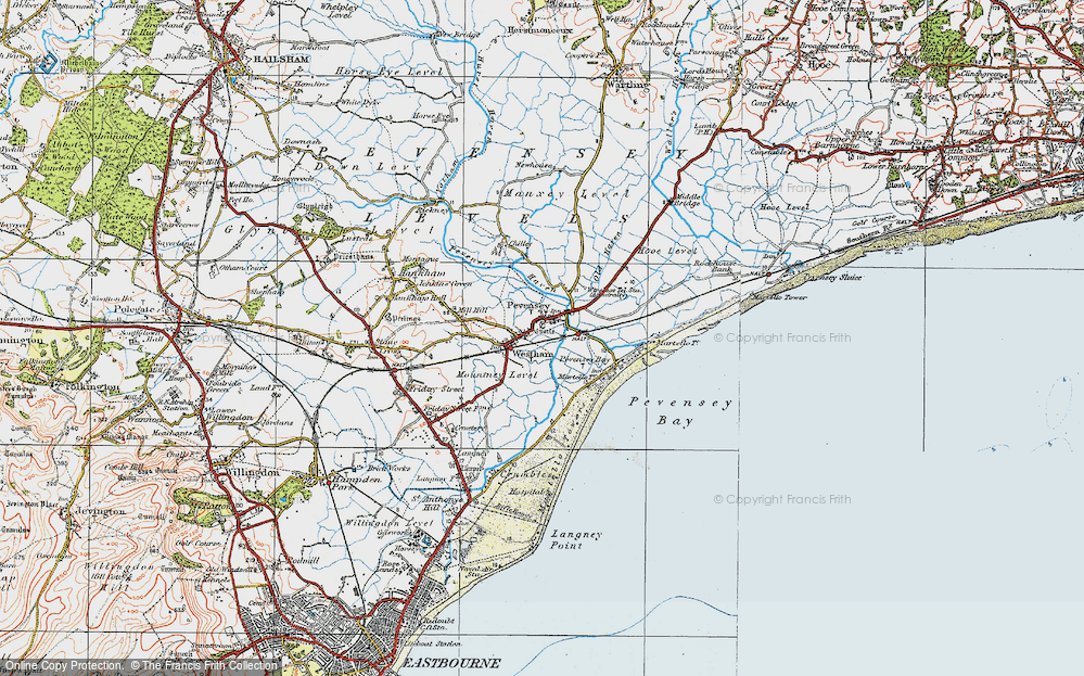 Old Map of Pevensey, 1920 in 1920