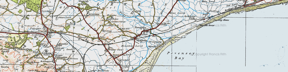 Old map of Anderitum (Roman Fort) in 1920