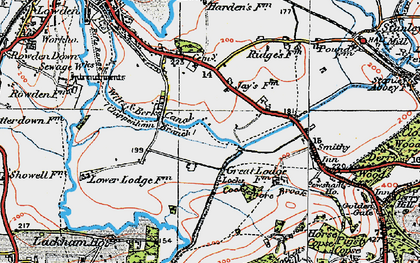 Old map of Wiltshire College (Lackham) in 1919